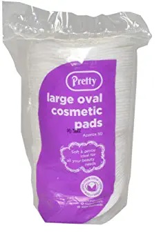 PRETTY LARGE 50 OVAL COSMETIC PADS