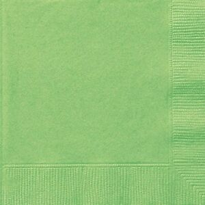 20 LIME GREEN LUNCH NAPKINS