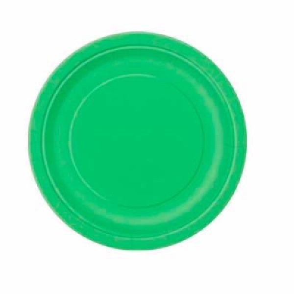 16 LIME GREEN 9″ PLATES