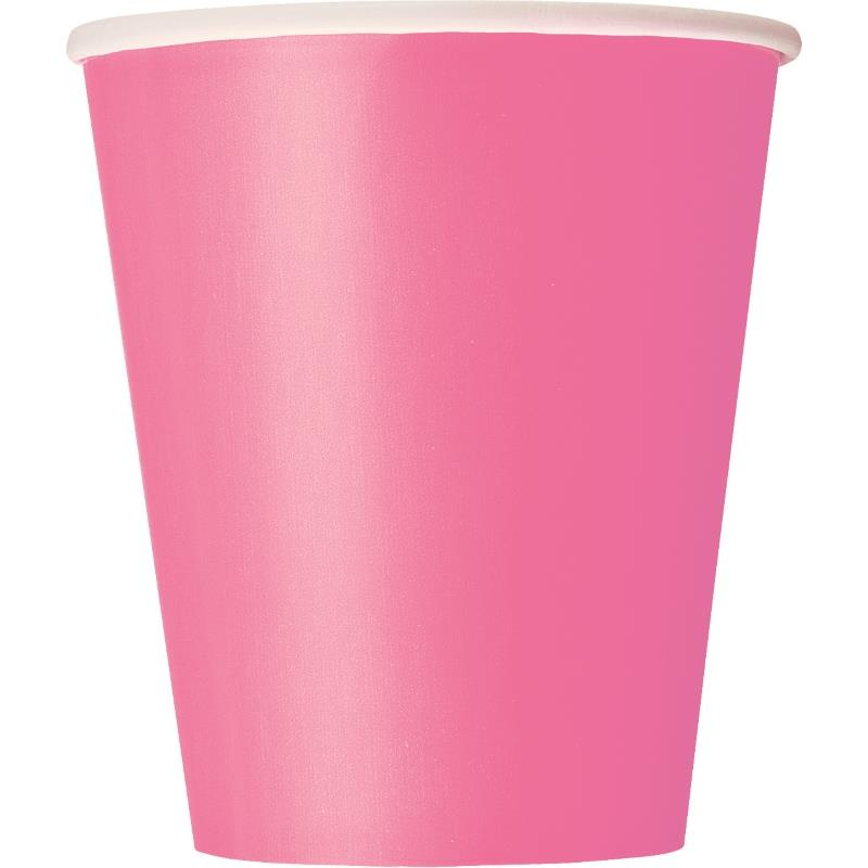 14 HOT PINK 9OZ CUPS