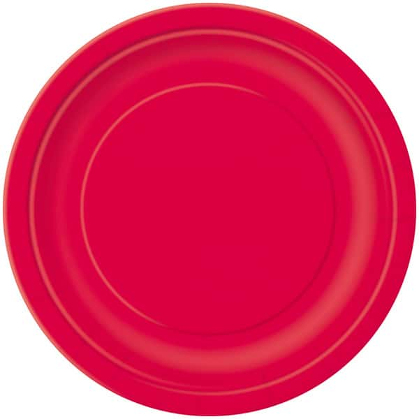16 RUBY RED 9″ PLATES