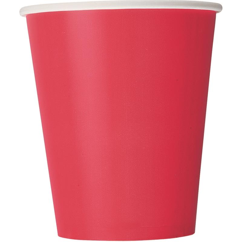 14 RUBY RED 9OZ CUPS