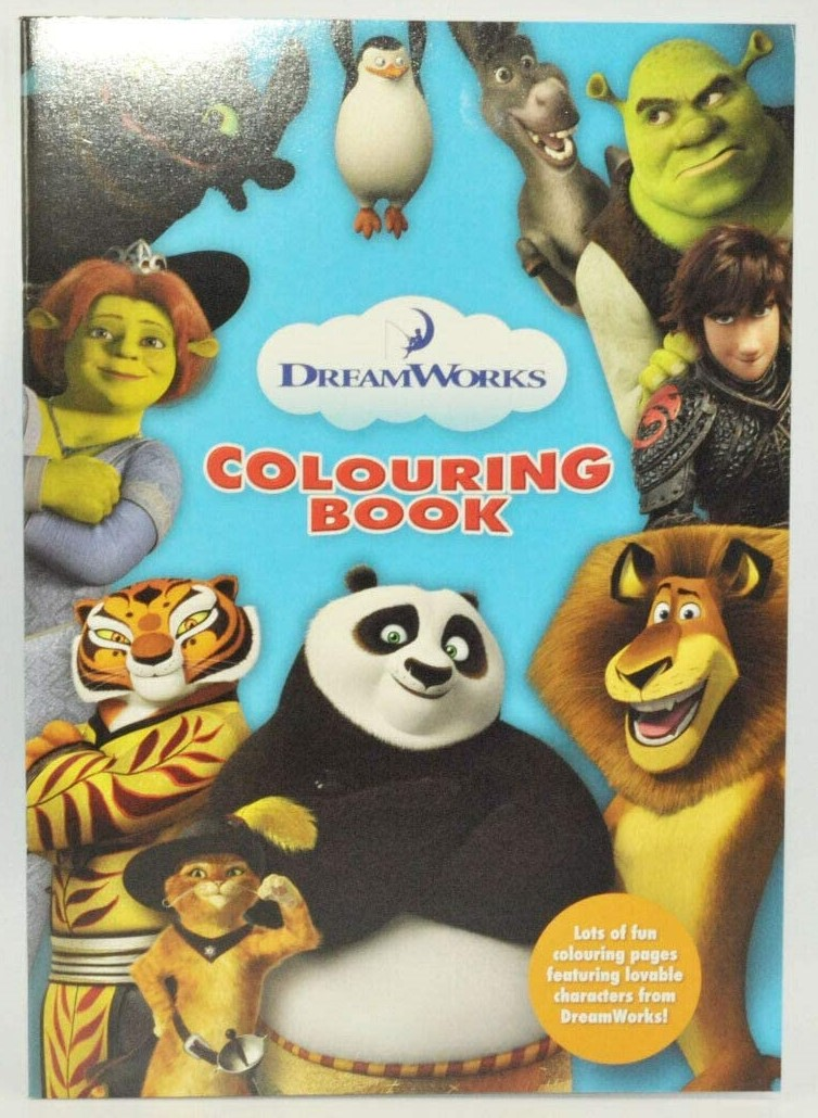 COLOURING BOOK BY DREAMWORKS