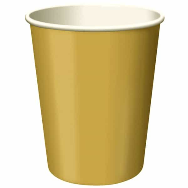 14 GOLD 9OZ CUPS