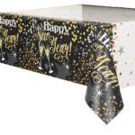 GLITTERING NEW YEAR TABLECOVER 54X84″