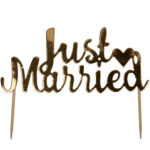 SCRIPTED MARBLE-JUST MARRIED CAKE TOPPER