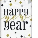 BLACK,GOLD,SILVER NEW YEAR TABLECOVER