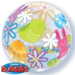 SPRING BUNNIES & FLOWERS 22″ BUBBLE
