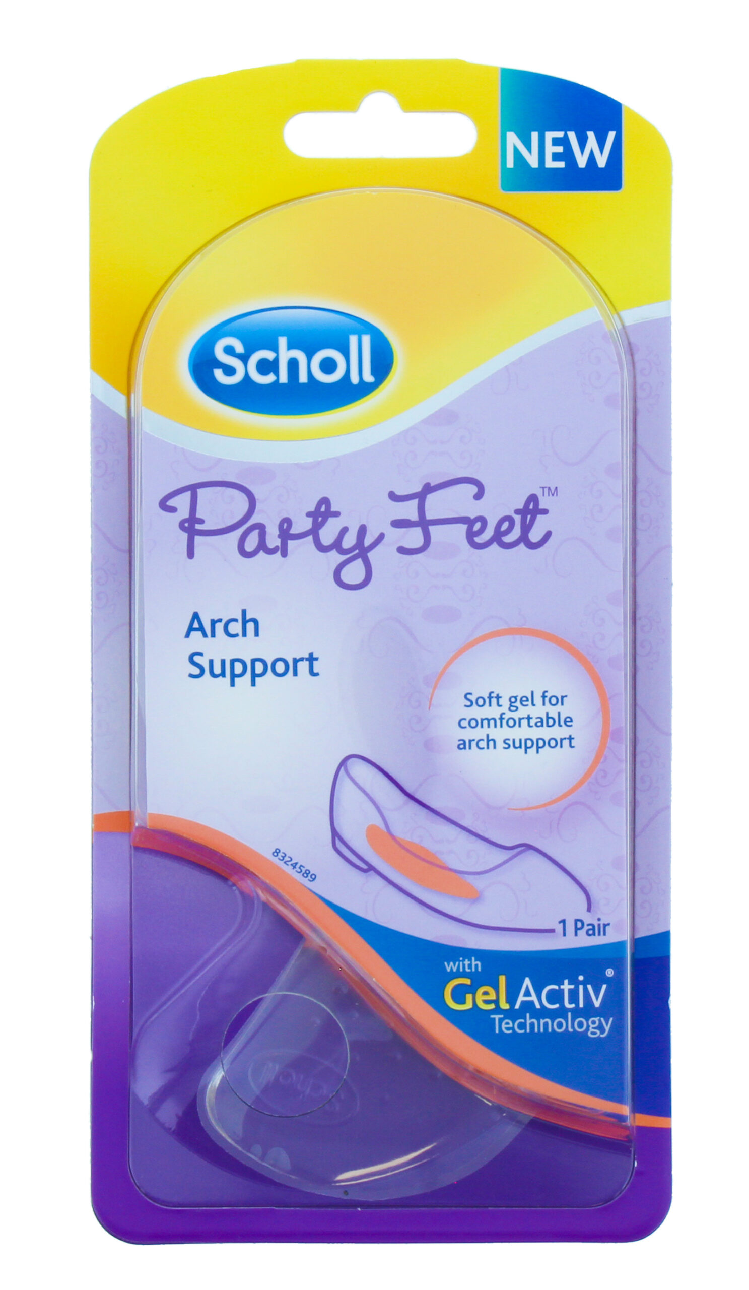 SCHOLL PARTY GEL INSOLES ARCH SUPPORT