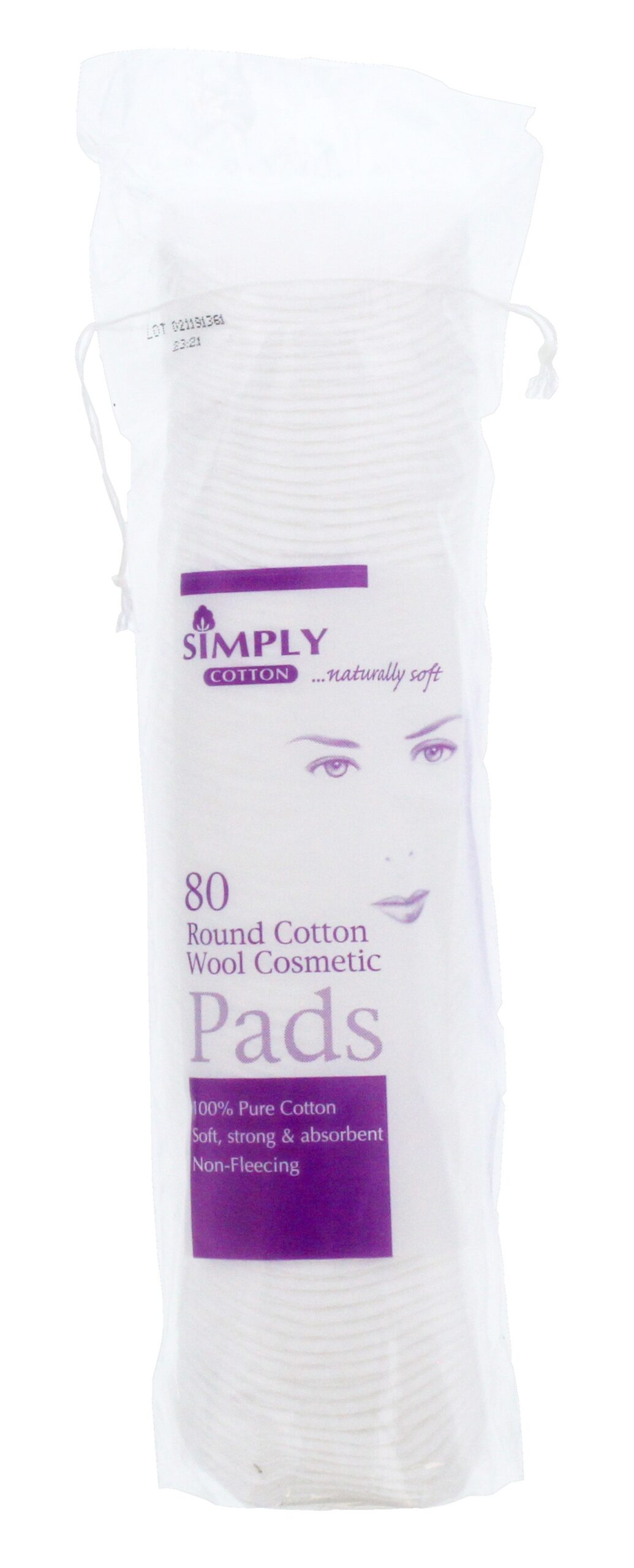 SIMPLY COTTON ROUND COSMETIC PADS 80S