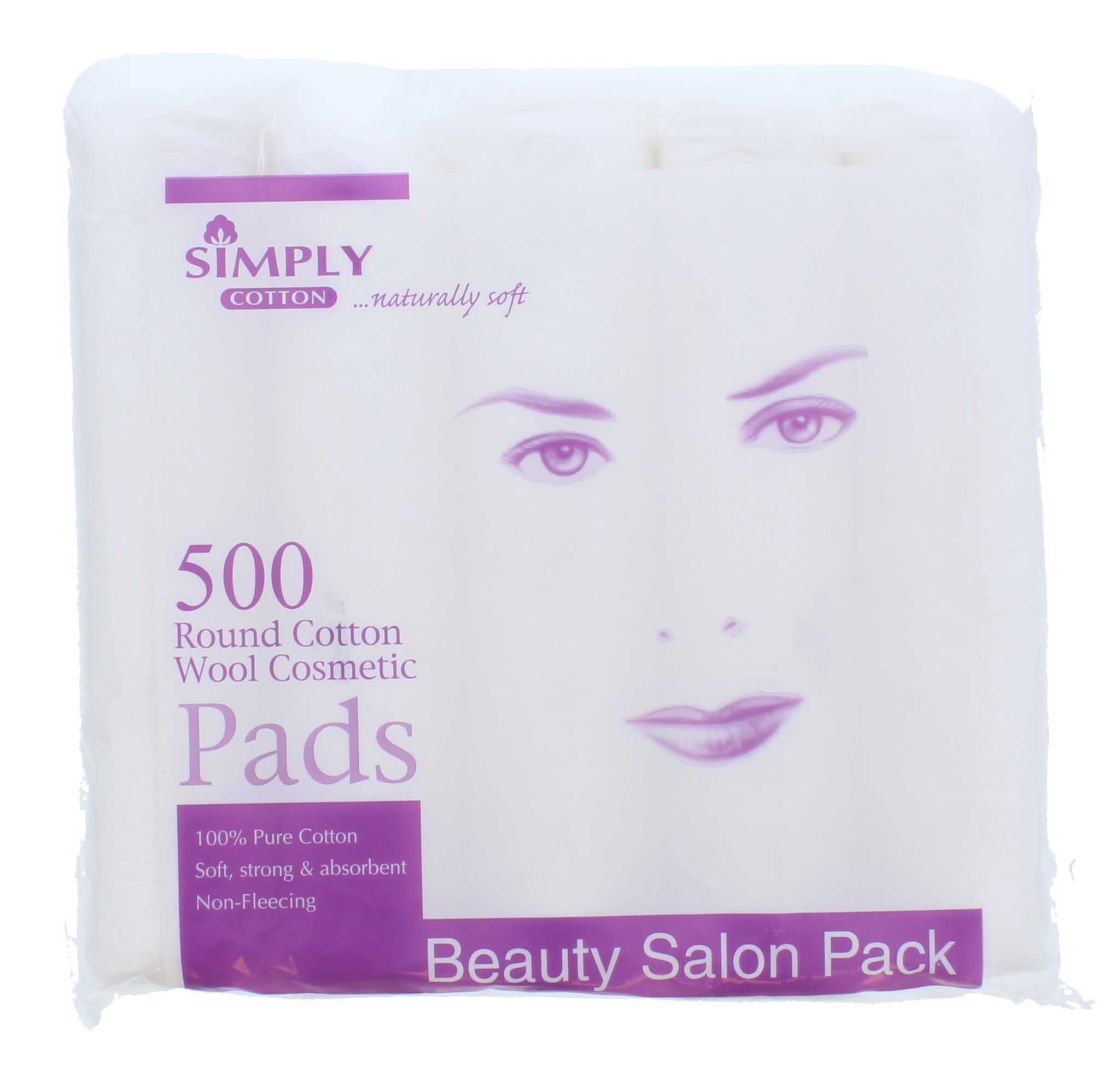 SIMPLY COTTON ROUND COSMETIC PADS 500S