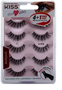 KISS EVER EZ LASHES 5PK WITH APP 11