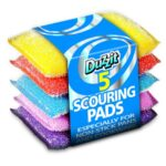 MIXED COLOURS SCOURING PAD 5PK