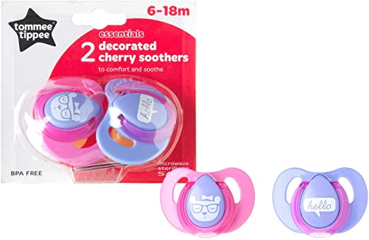 T.TIPPEE CHERRY LATEX SOOTHER 2PK 6-18M