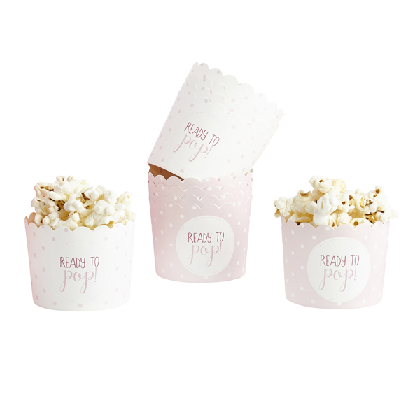 READY TO POP PINK PAPER CUPS PK10