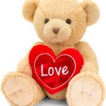 55CM BROWN SNUGGLES BEAR WITH HEART