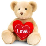 75CM BROWN SNUGGLES BEAR WITH HEART