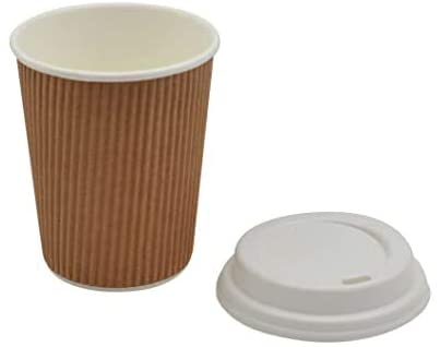 12 OZ RIPPLE CUPS AND LIDS COMBI PK10