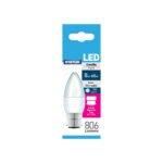 STATUS 8W=60W LED CANDLE DL BC BULB