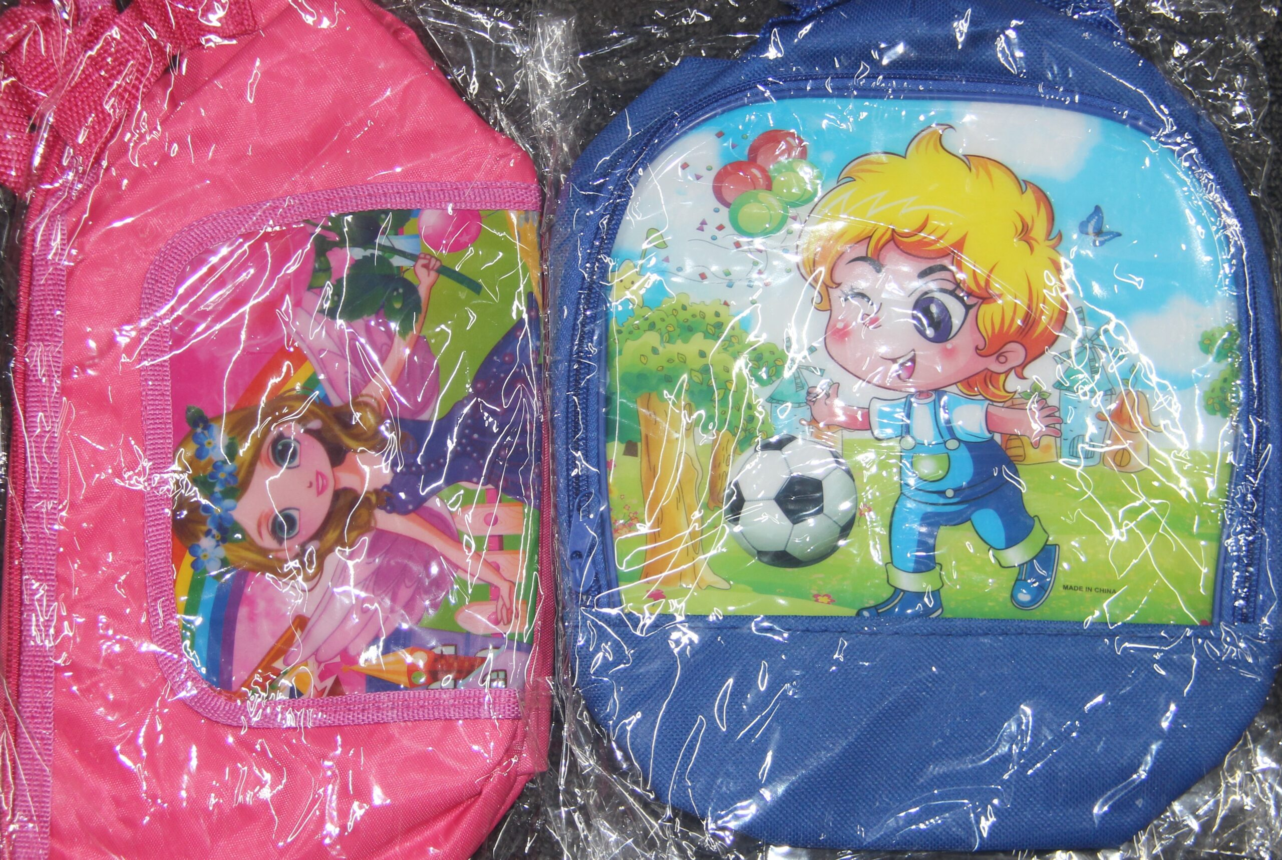 KIDS LUNCH BAGS PINK/BLUE